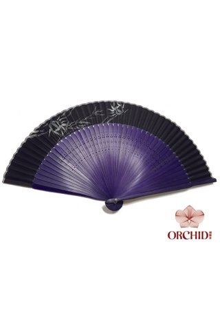 497-09 bamboo | Chinese Hand Fan Made of Tortoise-shell Bamboo And Silk