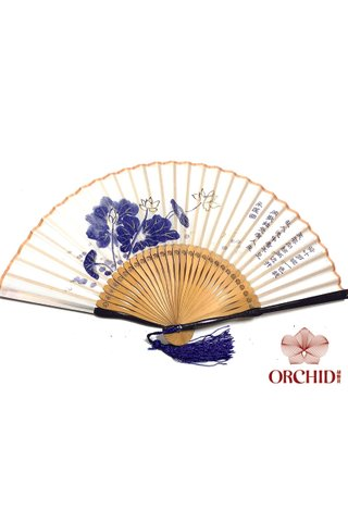 497 peony | Bamboo And Silk Chinese Style Fan