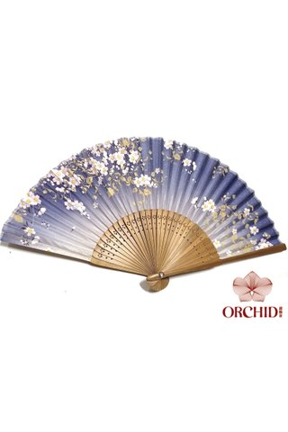827-07 | Bamboo And Silk Chinese Style Fan