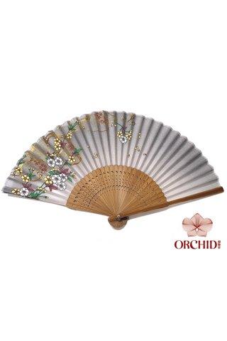 827-19 | Shiny Flower Design Hand Fan