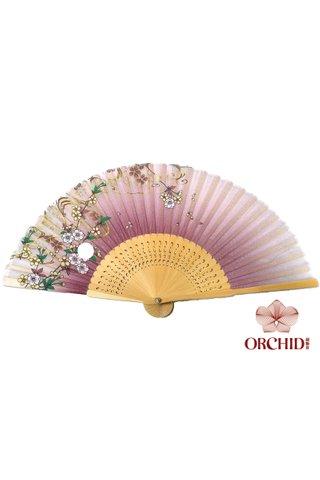 827-192 | Shiny Flower Design Hand Fan