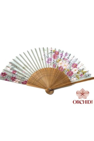 827-28 | Bamboo And Silk Chinese Style Fan