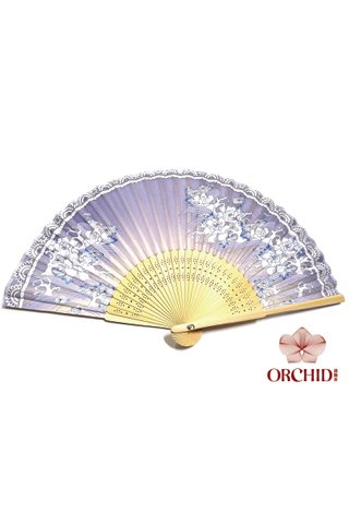 827-97lb | Chinese Style Flower Design Hand Fan