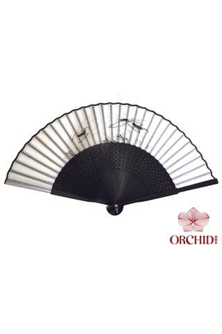 8400003 prawn | Chinese Style Handmade Tortoise-shell Bamboo And Silk Hand Fan