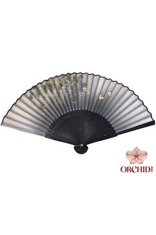 8482736 | Handmade Butterfly And Flower Design Bamboo Silk Hand Fan