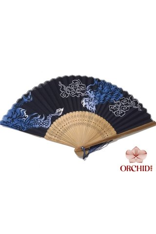 8482791 | Bamboo And Cotton Chinese Style Fan