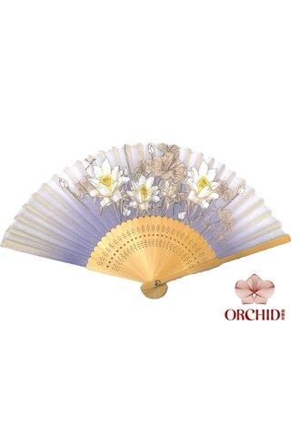 8484775 | 3 Big Flower Design Folding Hand Fan