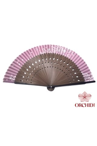 8484927 | Chinese Hand Fan Made of Tortoise-shell Bamboo And Silk