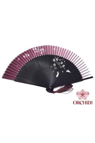 8484992 | Rabbits Design Handmade Bamboo And Silk Hand Fan