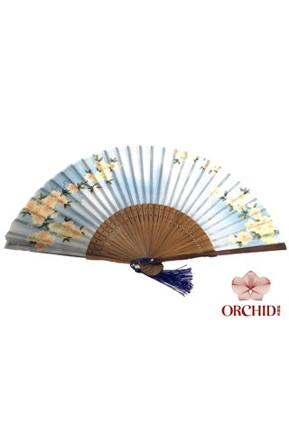 849-19 | Bamboo And Silk Chinese Style Fan