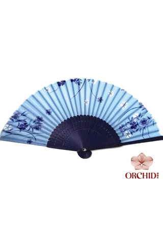 849-28 | Bamboo And Silk Chinese Style Fan