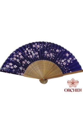 849-29 black | Flower Design Hand Fan