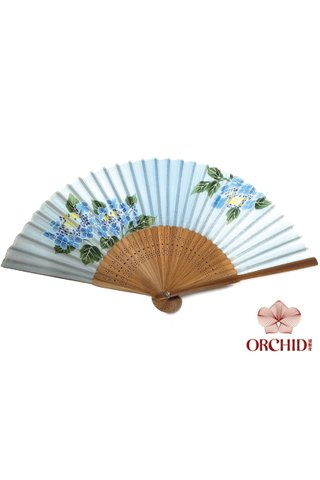 849-34 | Bamboo And Silk Chinese Style Fan