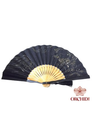 861 Black Base Dragon And Tiger | Chinese Style Fan