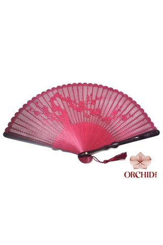 868 plum | Carving Design | Chinese Style Handmade High Quality Tortoise-shell Bamboo Hand Fan