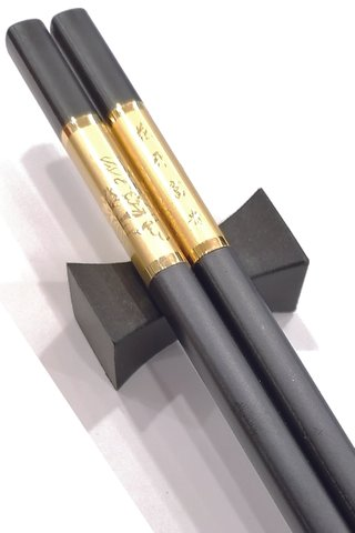 Gold Base Gold Peony Design | Alloy Chopsticks And Holders Dining Set