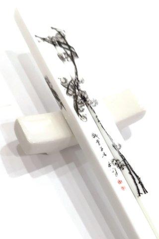 4 season-flowers Design | China Bone(骨瓷)Nami Chopsticks and Holders Dining Set