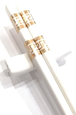 Gold Good Luck Logo Design | Bone China(骨瓷)Nami Chopsticks and Holders Dining Set