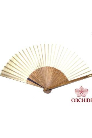 plain brown | Chinese Handmade Tortoise-shell Bamboo And Silk Fan