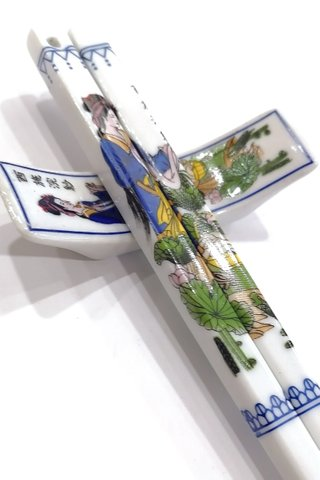 China Beauties Design | Porcelain Chopsticks and Holders Dining Set