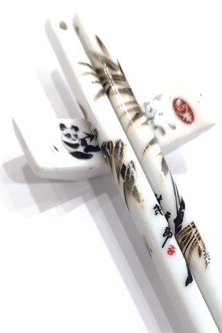 Panda Design | Porcelain Chopsticks and Holders Dining Set