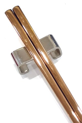 Rose Gold Plain 304 Stainless Steel Chopsticks and Holders Dining Set