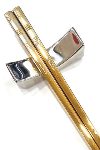 Yellow Gold Good Luck Design | 304 Stainless Steel Chopsticks and Holders Dining Set