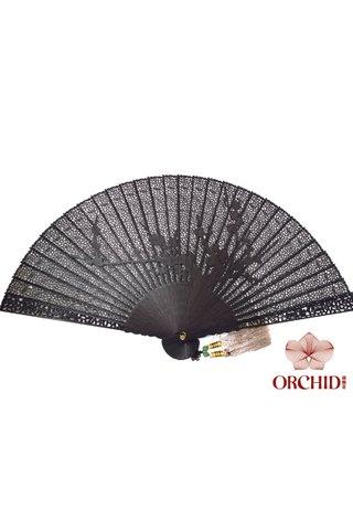 ebony plum | Carving Design | Handmade Ebony Wood Fan | Nice Gift For Decoration