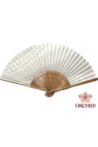 white design| Bamboo And Silk Chinese Style Fan