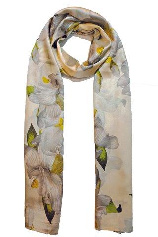 Silk Scarf Pattern Long Wrap Scarf Shawl Silk Imitation Beach Towel 28