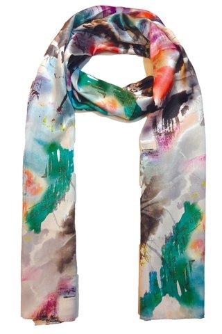 Silk Scarf Pattern Long Wrap Scarf Shawl Silk Imitation Beach Towel 29