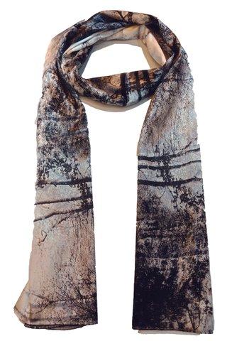 Silk Scarf Pattern Long Wrap Scarf Shawl Silk Imitation Beach Towel 32