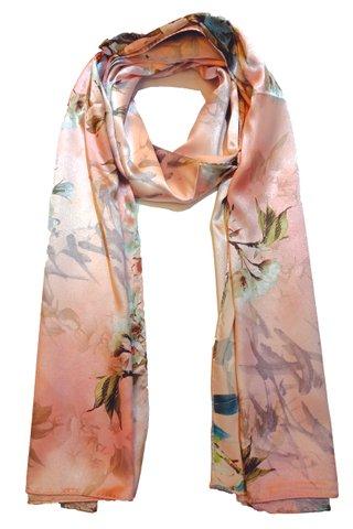 Silk Scarf Pattern Long Wrap Scarf Shawl Silk Imitation Beach Towel 36