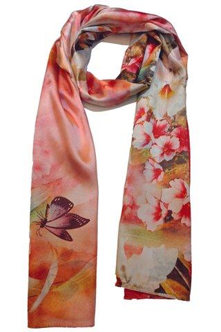 Silk Scarf Pattern Long Wrap Scarf Shawl Silk Imitation Beach Towel 20