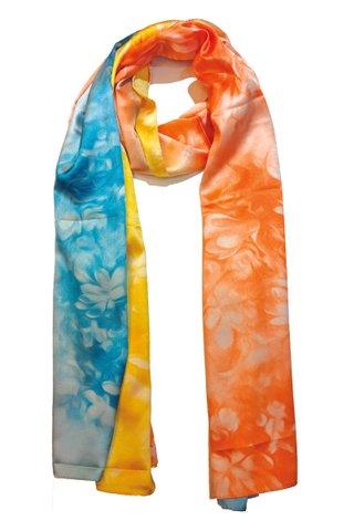 Silk Scarf Pattern Long Wrap Scarf Shawl Silk Imitation Beach Towel 25