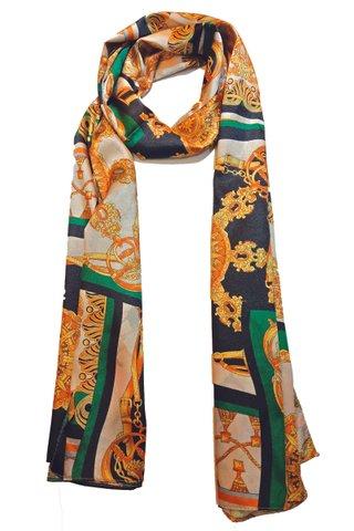 Silk Scarf Pattern Long Wrap Scarf Shawl Silk Imitation Beach Towel 12