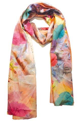 Silk Scarf Pattern Long Wrap Scarf Shawl Silk Imitation Beach Towel 14