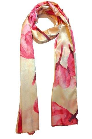 Silk Scarf Pattern Long Wrap Scarf Shawl Silk Imitation Beach Towel 16
