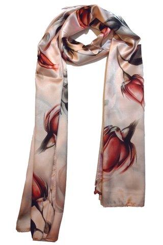 Silk Scarf Pattern Long Wrap Scarf Shawl Silk Imitation Beach Towel 10