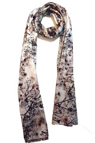 Silk Scarf Pattern Long Wrap Scarf Shawl Silk Imitation Beach Towel 3