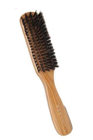 8100456 | Tan's Green Sandalwood Mix Pure Wild Boar Hairbrush | Hair Growing