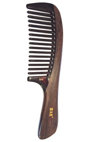 8100561 | Tan's Natural Wood With Buffalo Horn Comb Health Care Hair Care