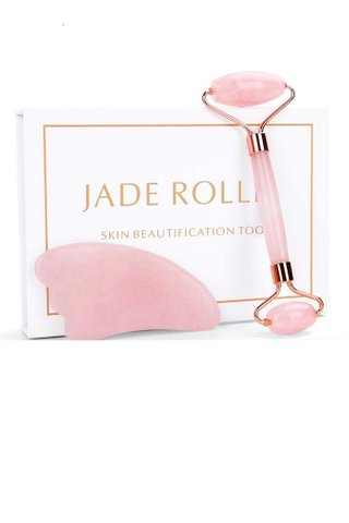 8100157 | Jade Material GUA SHA Tool Massage For Face Body 2 in 1 set