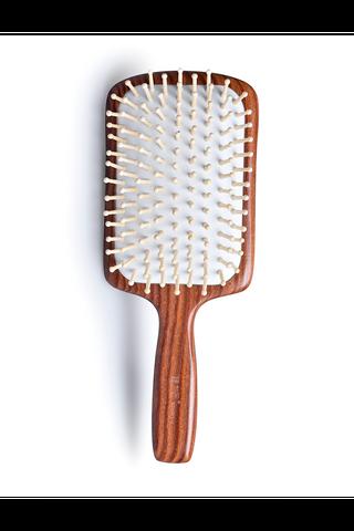 8100043 | Tan's Swartzia sp. Wooden Hair Brush