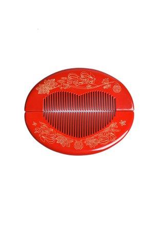 8100348 | Tan's Box Wood Handpainted Design Wedding Comb Gift Set