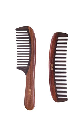 8100615 | Tan's Chacate Preto Wood Handmade Comb 2 in 1 Gift Set