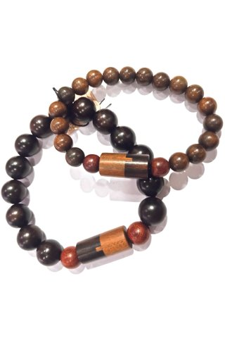 724 | Couple Bracelet 2 in 1 Gift Set Rosewood and Sandalwood Bracelet