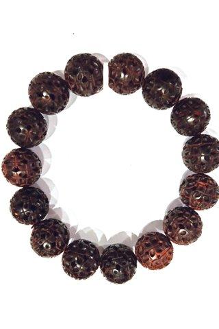 728 | Red Sandal Wood Bracelet