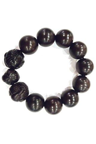 783 | Ebony Wood Bracelet Carved Design