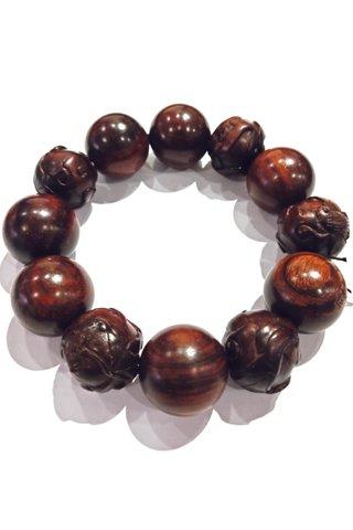 785 | Rose Wood Bracelet Carved Design